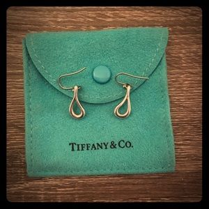 Tiffany Open Teardrop Elsa Peretti Earrings
